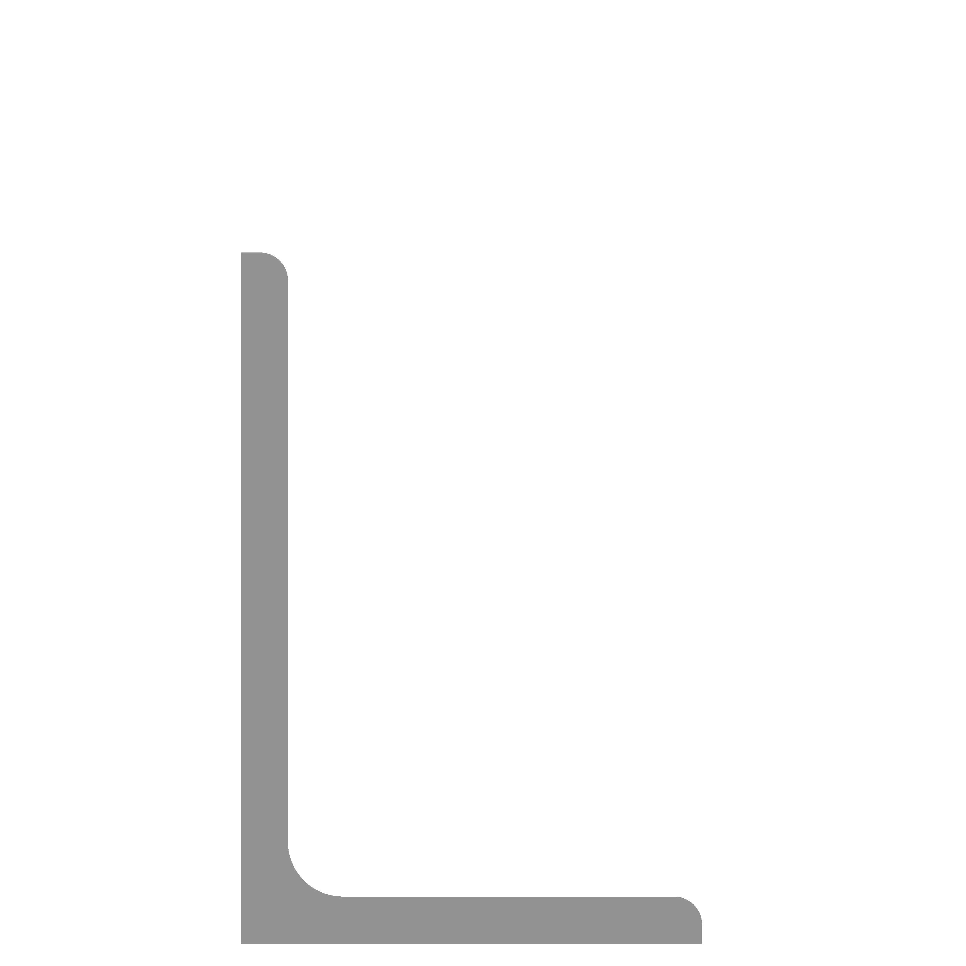 Hoeklijn thermisch verzinkt 150x100x10 mm
